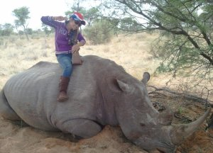 Thai woman hired by Vixay to claim she hunted this rhino