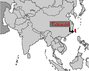 In case you are not sure where Taiwan is