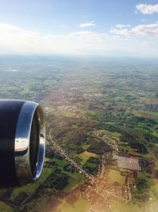 Flying in for my layover in Belgium