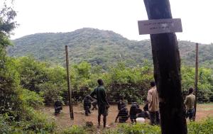 Saying farewell to the chimpanzees at Tacugama