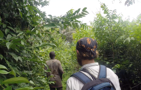 Amani guiding us through the bush. He was always making sure we had an easy path.