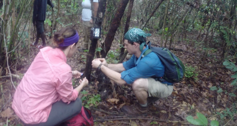 One of our unsuccessful camera traps being set